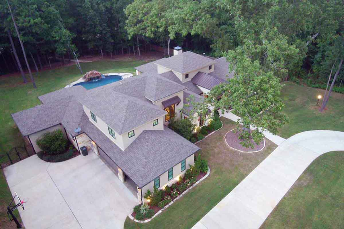Drone image of a home